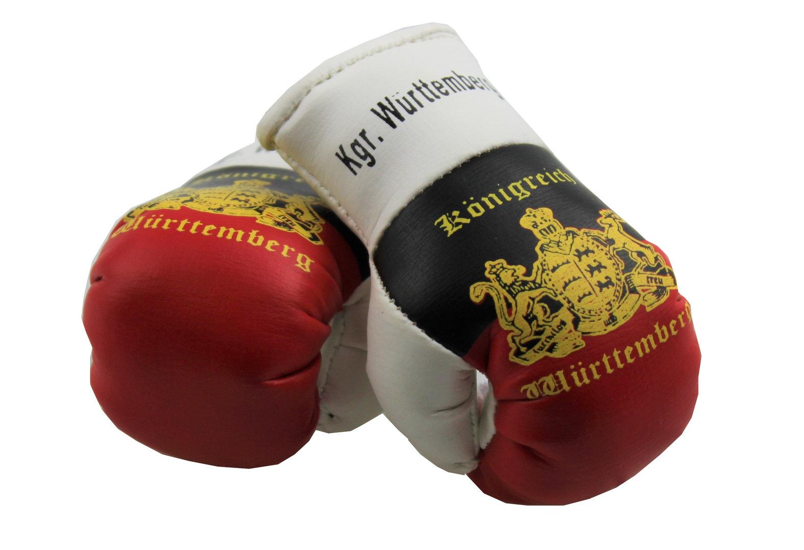 Mini Boxhandschuhe mit Bayern Flagge